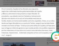#AMLO pidió al Rey de España que se disculpara por la conquista, afirma El País