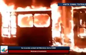 Se incendia unidad del Metrobús de la CDMX
