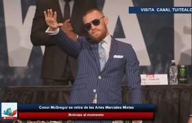 Conor McGregor se retira de las Artes Marciales Mixtas