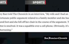 San Francisco Giants CEO Attacks Wife