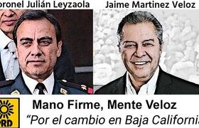 Registro de Veloz como candidato por PRD para Gobernador de Baja California