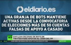 Descubren en España decenas de 'bots' en Twitter que apoyan al líder del PP