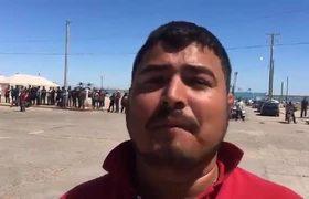 Protesta de pescadores contra marinos en San Felipe