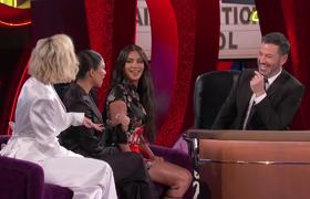 JKL: Jimmy Kimmel Interviews Kim, Kourtney & Khloé Kardashian in Las Vegas
