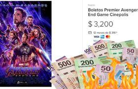 Revenden boletos para 'Avengers: Endgame' en precios estratosféricos HASTA 18 mil pesos