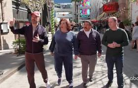 JKL: Jimmy Kimmel Takes Aunt Chippy, Guillermo & Cousin Sal Zip-Lining