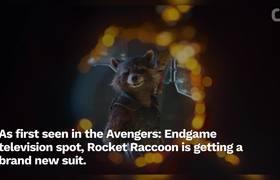 #AvengersEndgame Art Reveals Best Look At Rocket's New Suit