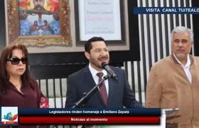 Legisladores rinden homenaje a #EmilianoZapata