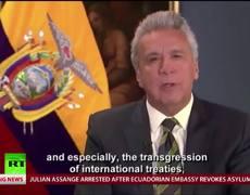 #VIDEO: Ecuador President Lenin Moreno on revoking Julian Assange's asylum