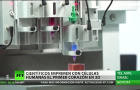 Científicos 'imprimen' el primer corazón 3D del mundo con tejido humano