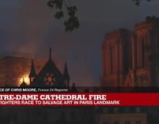 Notre-Dame Fire: 'Shell-shocked' crowds stare in silence as Notre-Dame burns