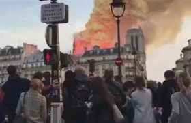 #NEWS: Notre Dame's spire collapses amid raging fire