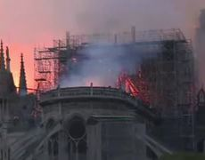 Pictures of Paris's iconic Notre-Dame Cathedral on fire