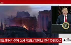 Donald Trump calls Notre Dame fire a