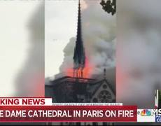 Witness Says Notre Dame Cathedral 'Completely Engulfed' In Flames