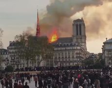 Serious FIRE at the NOTRE DAME Cathedral in Paris