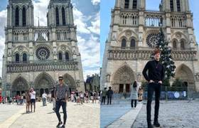 Take advantage of tragedy in Notre Dame to show off their trip to Paris