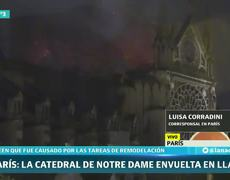 That left the fire of Notre Dame Cathedral