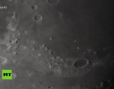 #VIDEO: A plane passes in front of the moon.