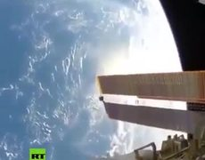 How does the ISS move in space?