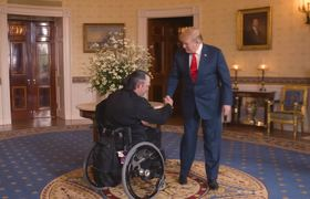 President Trump Welcomes Wounded Warriors Project