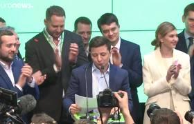 Volodímir Zelenski, de humorista a presidente de Ucrania