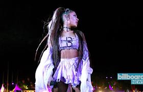 Ariana Grande Hit With Lemon During Coachella Performance