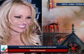 Pamela Anderson no apoya donaciones a Notre Dame