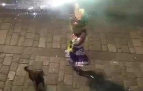 'Mazapán', el perro bailarín de la fiesta de Calenda de Oaxaca