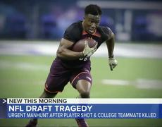 New York Giants draft pick shot, college teammate killed
