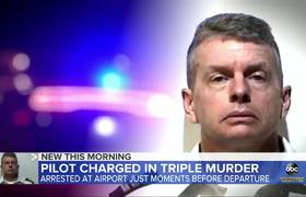Pilot arrested at airport now faces triple murder charges