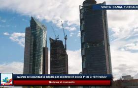 Guardia de seguridad se dispara por accidente en el piso 51 de la Torre Mayor