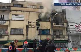 Se incendia departamento en la colonia Juárez; hay dos lesionados