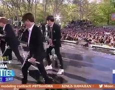 BTS performs 'Boy With Luv' live on 'GMA'