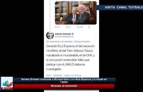 Denise Dresser confunde a Richard Gere con Ruiz Esparza y lo tunde en Twitter