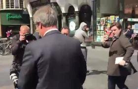 Milkshake thrown at Brexit party leader Farage