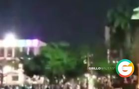 Prenden fuego a Palacio de Gobierno #Chiapas