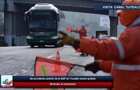 Se accidenta camión de la SSP en Yucatán muere policía
