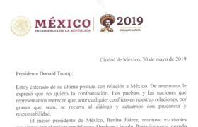 DONALD TRUMP responde a CARTA DE AMLO