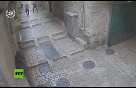 Israeli Police releases video of stabbing attack in Jerusalem old city