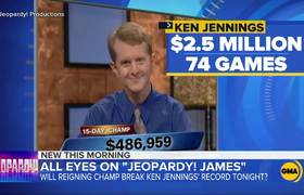 'Jeopardy!' champ within striking distance of record 1,207 views