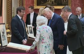 Trumps, Queen Elizabeth view items from the Royal Collection