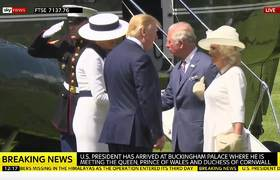 President Trump meets Queen at Buckingham Palace