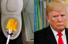 #VIRAL: Brush to clean bathrooms with the face of Donald Trump