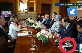 Bautizan como #LordCacahuates a funcionario de SRE por botanear en reunión con Pelosi