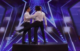 #AGT2019: Terry Crews Joins The Messoudi Brothers For An Impressive Balancing Act