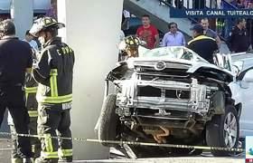 Dos muertos y tres lesionados deja fuerte accidente en Viaducto