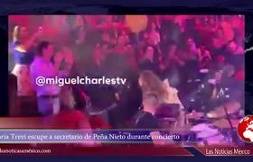 Gloria Trevi escupe a secretario de Peña Nieto