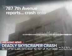Helicopter pilot killed after crashing into New York City skyscraper