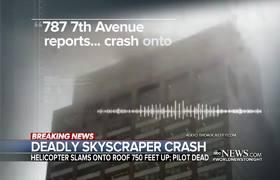 Helicoptero se estrella en edificio en Nueva York 1 Muerto